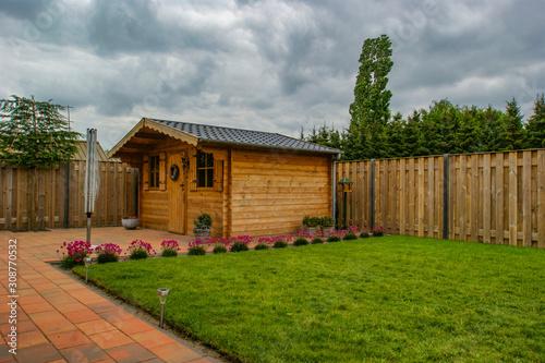 Cuadros en Lienzo wooden garden shed in the backyard