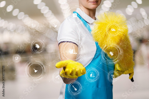 Fotomural  Concept cleaning services.