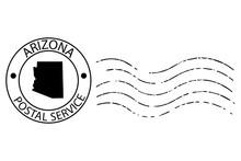 Arizona Postal Stamp Vector Illustration Eps 10