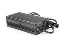 Black Charger For Electric Bike Isolated With Clipping Path