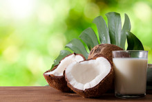 Natural Coconut Open With Coco...