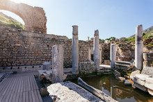 Ruins Of Bathroom At Ancient E...