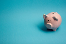 Piggy Bank And Golden Coin. Sa...