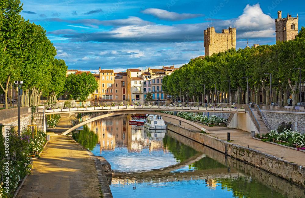 Fototapeta Historic old town of Narbonne, France