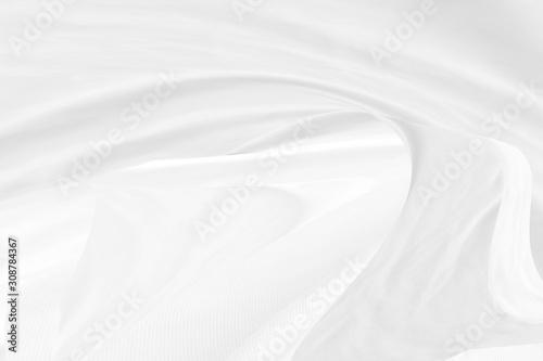 soft light fabric abstract smooth curve shape decorative fashion white backgroun Fototapet