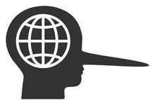 Global Liar Vector Icon. Flat ...