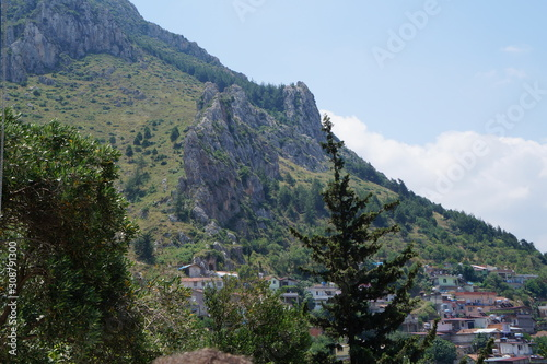 Photo travel concept, turkish city with landscape mountains, Antakya, Turkey