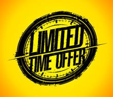 Limited Time Offer Rubber Stamp Imprint, Sale Sign