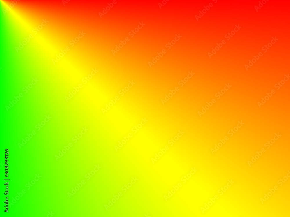 Abstract background, red, green, orange, yellow gradient horizontal contemporary concept