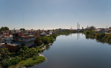 Polluted River And Factories