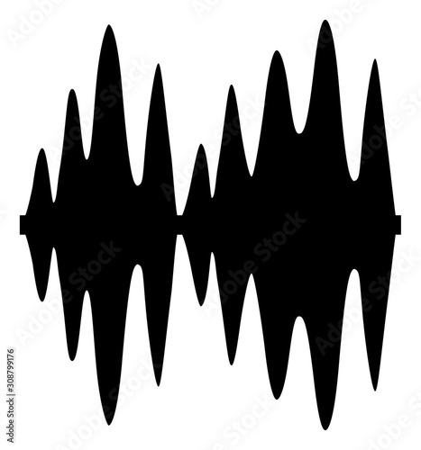 Fototapeta  Sound signal vector icon