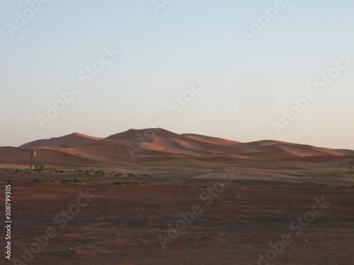 Fototapeta Mauve Sand Dunes in evening light - Morocco, Inshallah