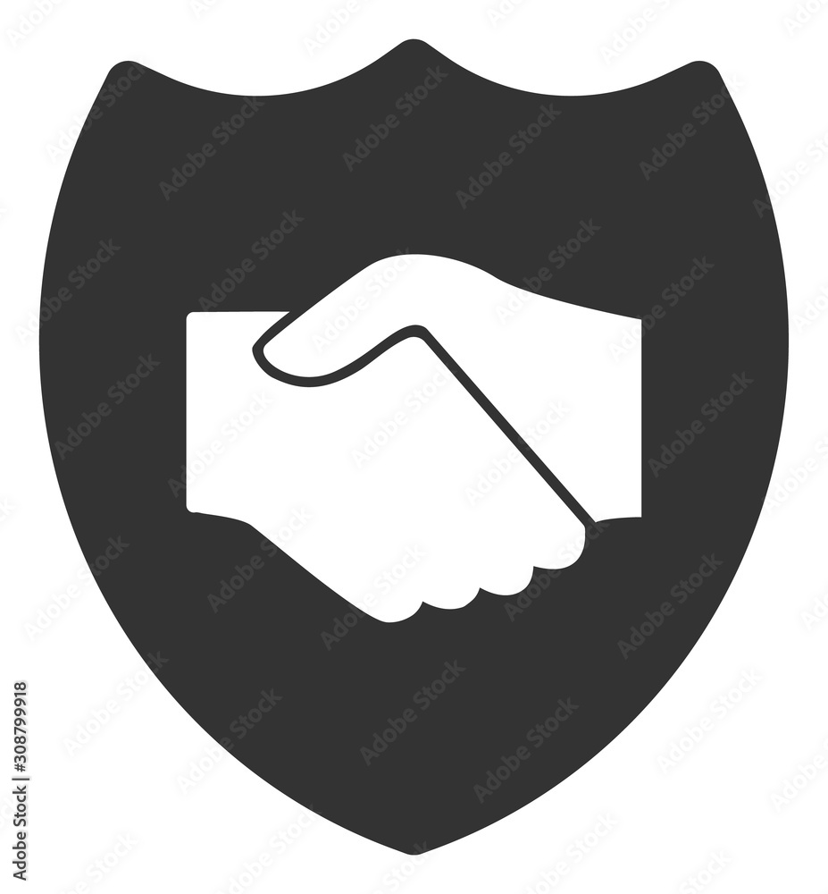 Fototapeta Trust vector icon. Flat Trust pictogram is isolated on a white background.