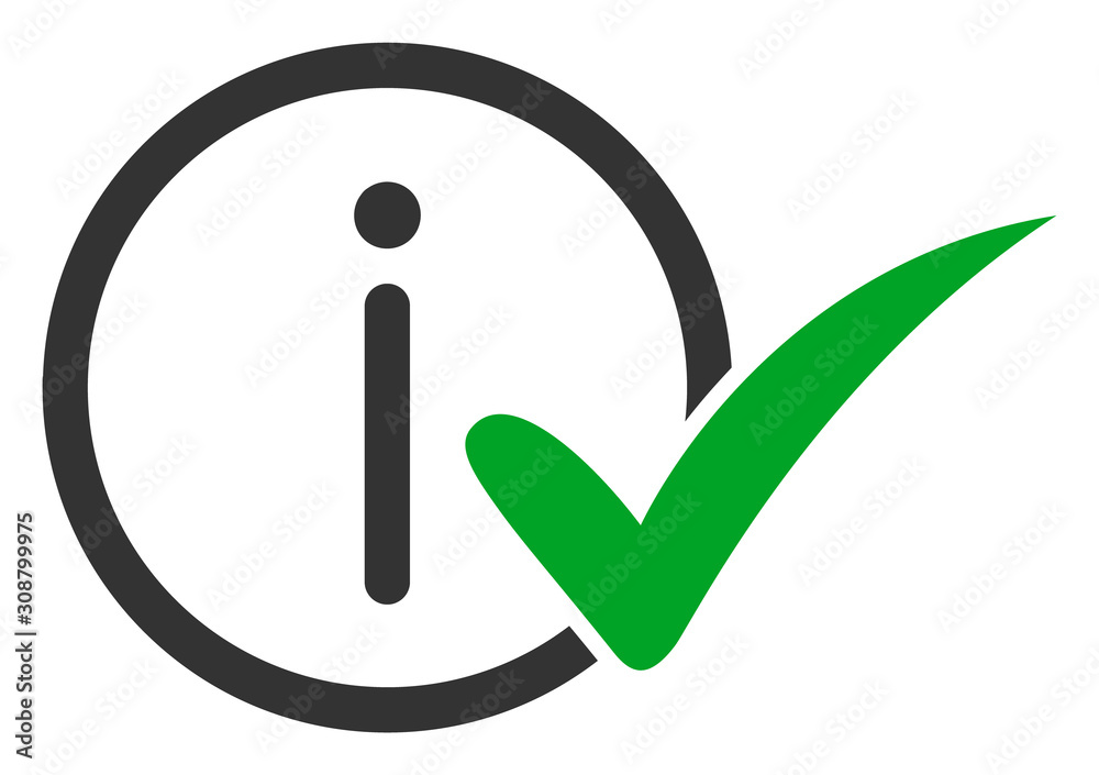 Fototapeta Truth information vector icon. Flat Truth information symbol is isolated on a white background.