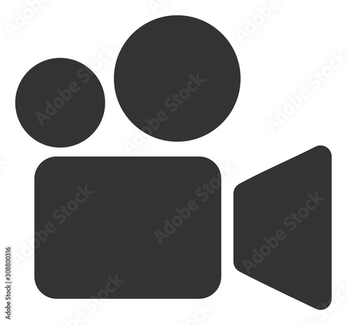 Obraz Video camera vector icon. Flat Video camera symbol is isolated on a white background. - fototapety do salonu