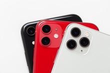 Three Smartphones Close-up On ...