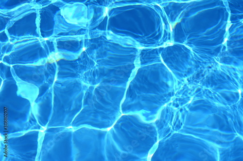 Fototapety, obrazy: Surface of blue swimming pool,background of water in swimming pool. Water background blue.