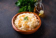 Homemade Sauerkraut Or Pickled...