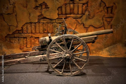 Artillery in War Memorial Hall Wallpaper Mural