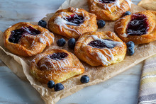 Blueberry Danish Snail Pastries