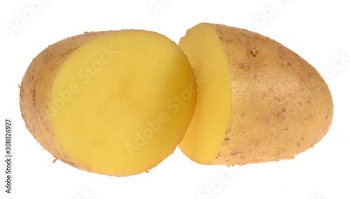 potato isolated on white background Fototapete