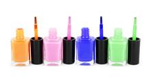 Bottles With Bright Nail Polis...