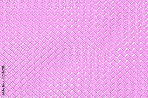 Violet leather background with imitation weave texture. Glossy dermantine, artificial leather structure.