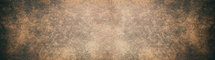 Old brown rustic leather texture - Panorama background long