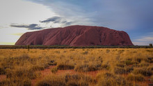 Lovely Uluru View From Car Sun...