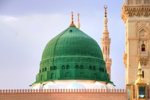 Medina/Saudi Arabia - May 30, 2015: Prophet Mohammed Mosque, Al Masjid An Nabawi - Medina - Saudi Arabia