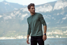 Handsome Man In Casual Style C...