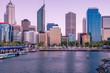 Early morning image of Elizabeth Quay in Perth Western Australia