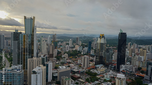 Beautiful aerial view of the City of Panama