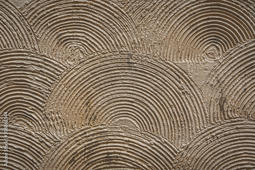 overlapping concentric circle wall pattern background, old brick texture pattern for decoration, industrial Construction business concept