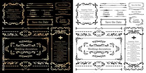 Obraz ウェディング デコレーション素材 ブライダル 結婚式の招待状 - fototapety do salonu