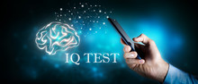 Word Writing Text Iq Test.