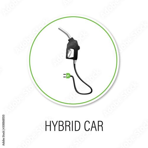 Foto icon hybrid car vector