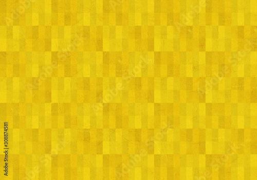 背景:長方形 ブロック 幾何学模様 幾何学 金箔 屏風 金 ゴールド テクスチャー 市松模様 Canvas Print