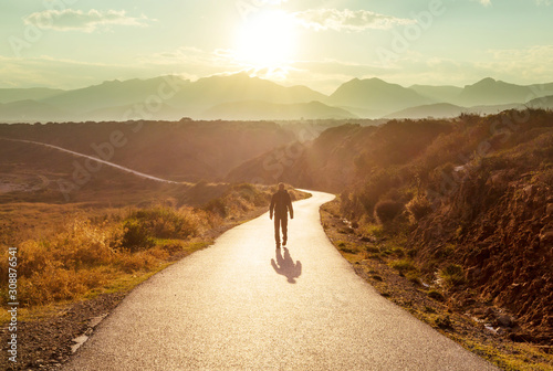 Obraz Road in mountains - fototapety do salonu