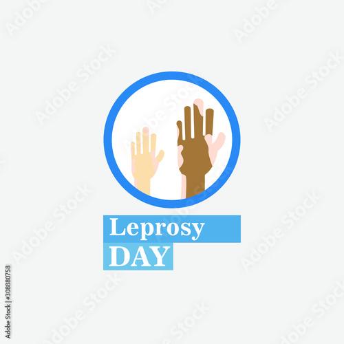 Carta da parati World Leprosy Day Vector Illustration
