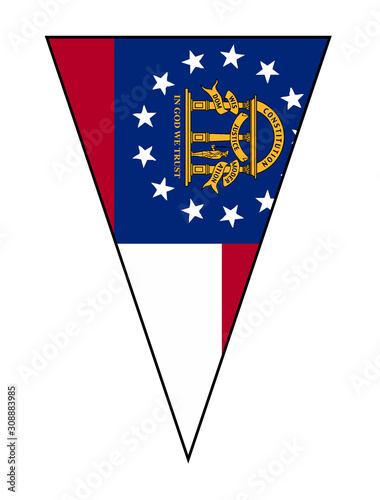 Georgia State Flag As Bunting Triangle Wallpaper Mural