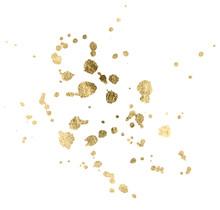 Watercolor Gold Drop Splash Ve...