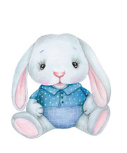 Cute Watercolor Bunny Rabbit H...