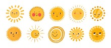 Cute Sun Flat Vector Illustrat...