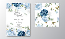 Hand Drawn Floral Wedding Invitation Card And Seamless Pattern Floral