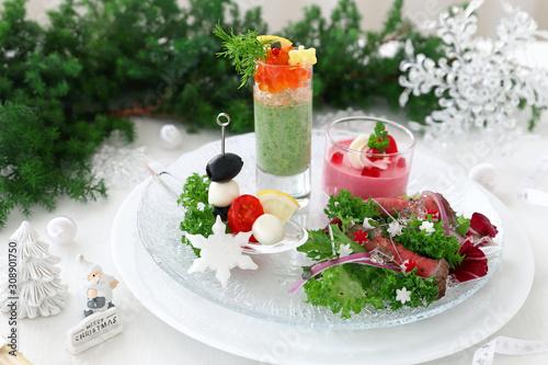 Photo クリスマス 前菜盛り合わせ