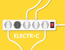 Electric Extension Cord Illust...