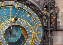Old Astronomical Clock In Prague - Czech Republic