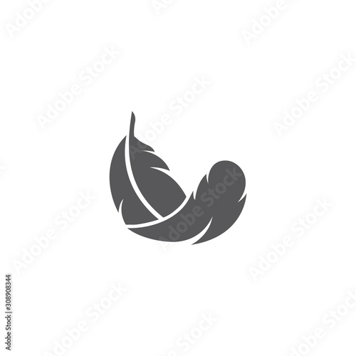 Obraz na płótnie feather logo template vector icon