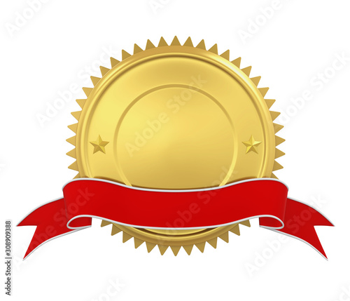 Photo Blank Award Medal Isolated